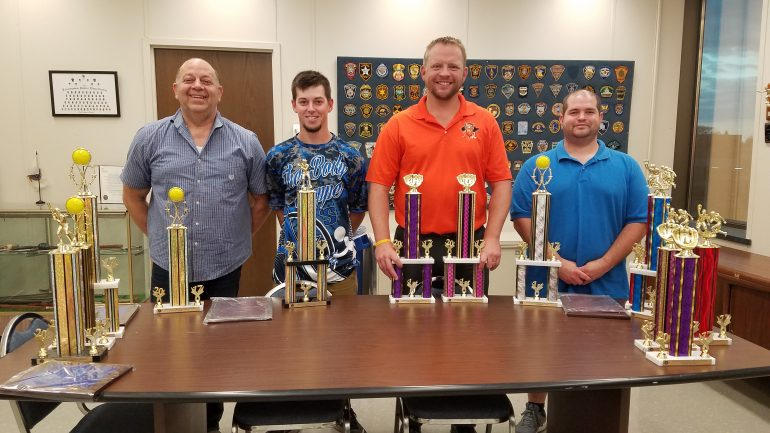2017 Softball League Trophies Presented to Teams