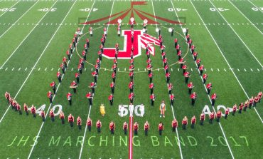 Jamestown High School Marching Band Performs Big Top for Community on 10/28