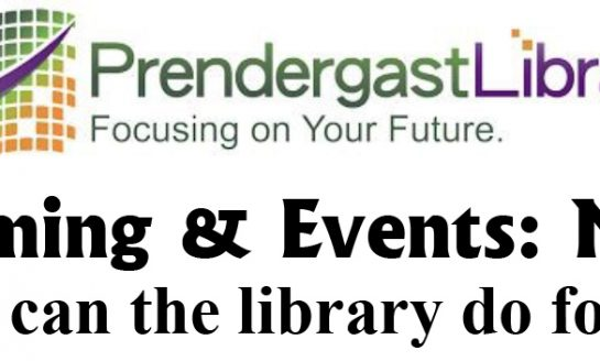 Prendergast Library Programming & Events for May 2018