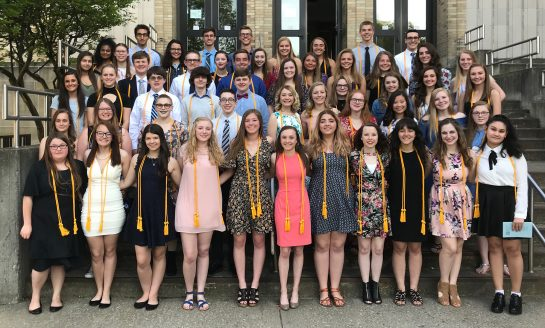 JHS Honor Society Inducts New Members