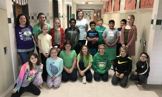 Jefferson Middle School 5th Graders Honor Mental Health Awareness Month